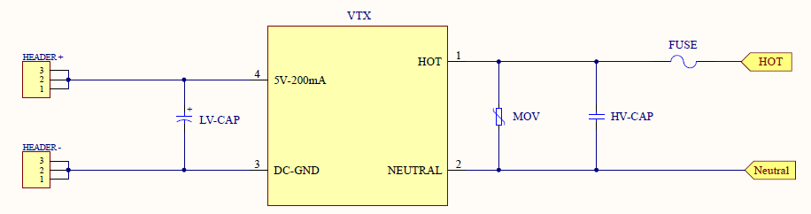 Schematic of a power supply 1w 5V
