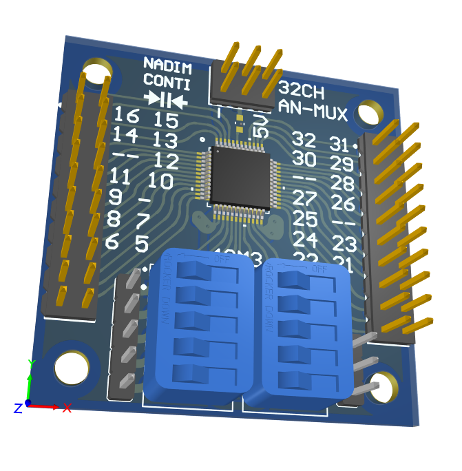 3D 32CH to 1 analog multiplexer MUX ESD protection by Nadim Conti