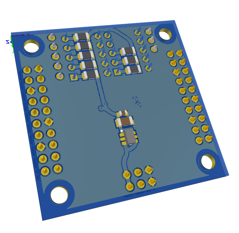 3D - Resistor placement and ESD protection for Analog Mux 32 to 1
