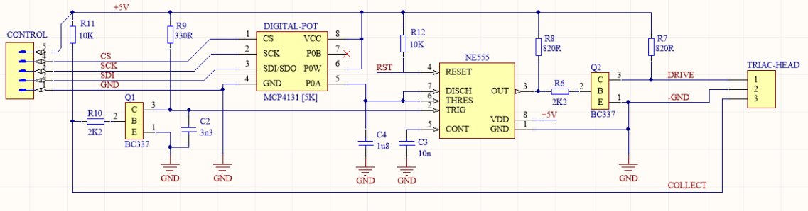 schematic of a pulse delay generator  by Nadim Conti