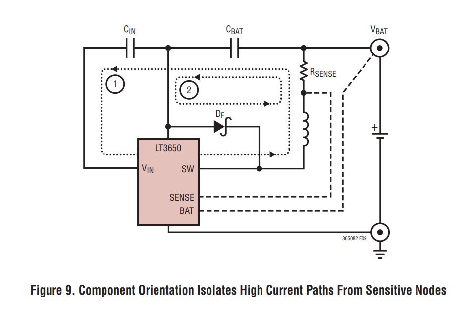Sensitive Node LT3650 for Boost converter DC-DC applications